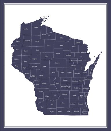 Wisconsin counties map printable