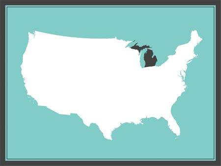 Michigan USA map downloadable
