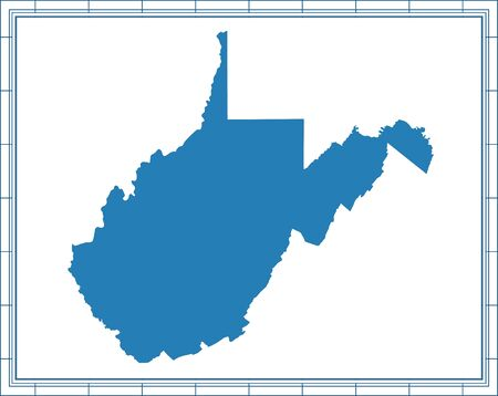 Outline vector map of West Virginia