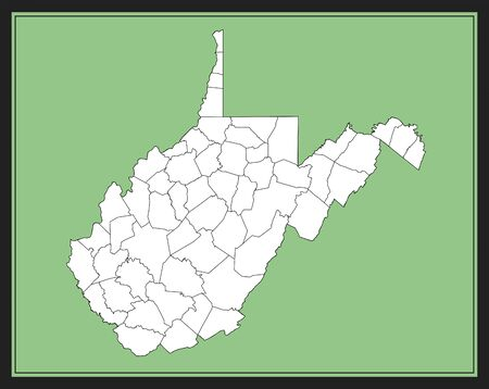 Map of West Virginia county