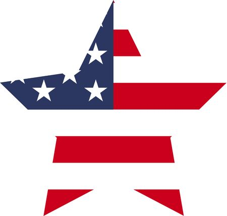 Flag of USA star icon