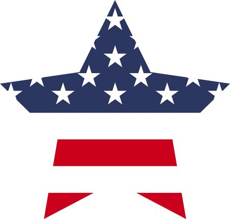 USA flag star icon vector illustration
