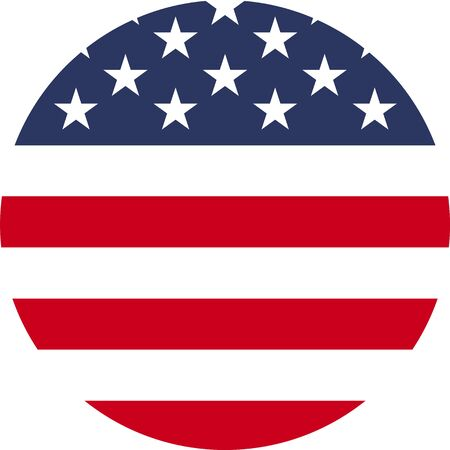 United States flag circle icon
