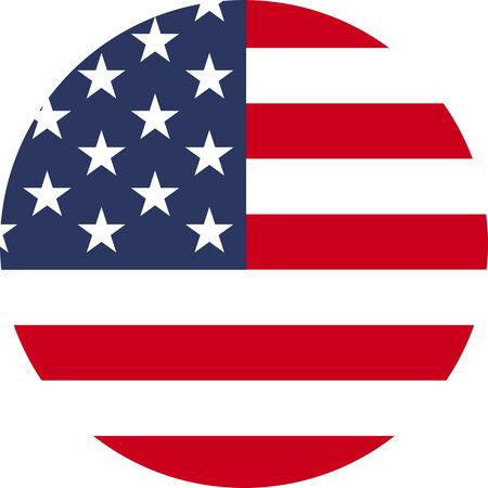 Flag of USA circle icon
