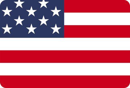 American flag icon vector illustration