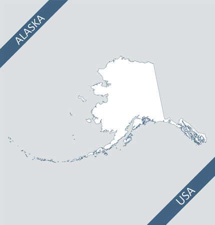 Blank map of Alaska USA