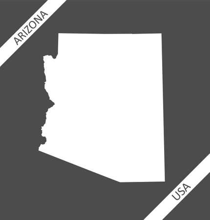 Blank map of Arizona USA