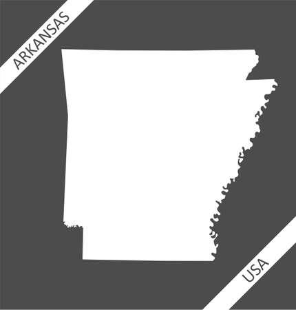 Blank map of Arkansas USA Illustration