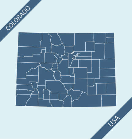Counties map of Colorado USA