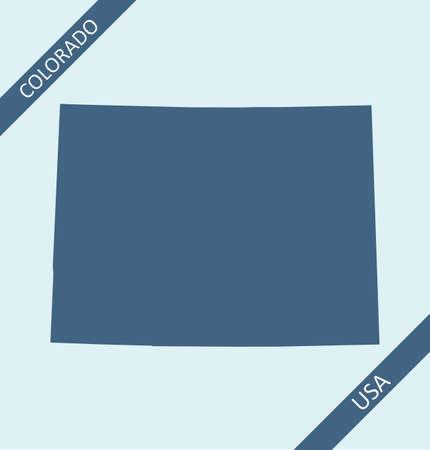 Blank map of Colorado USA