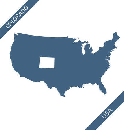Colorado state on USA map