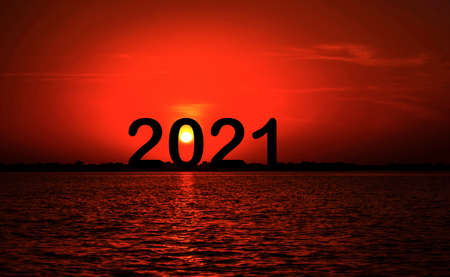 The new year 2021 starts when the sun rises at midnight