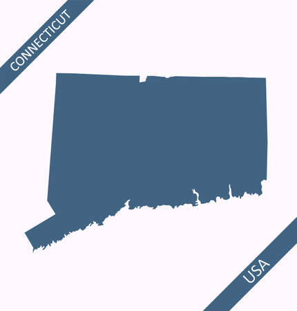 Blank map of Connecticut USA