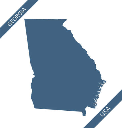 Blank map of Georgia USA