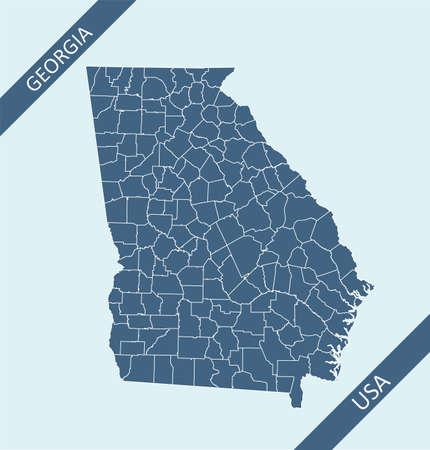 County map of Georgia USA
