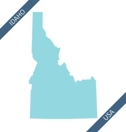 Blank map of Idaho USA