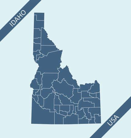 Counties map of Idaho USA