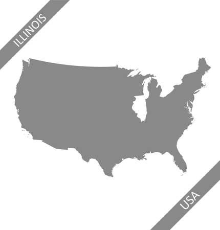 Illinois highlighted on USA map 免版税图像 - 154521590