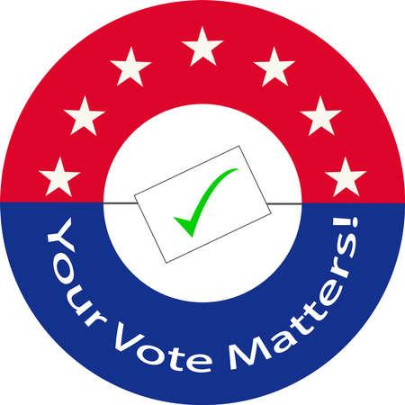 Your vote counts clipart image Vektoros illusztráció