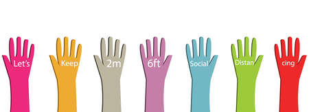 Social distancing with diversity concepts 矢量图像