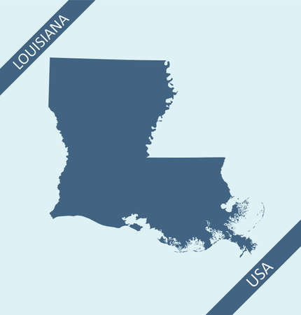 Blank map of Louisiana USA