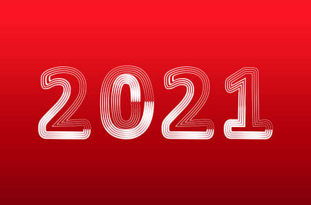 New year 2021 is loading