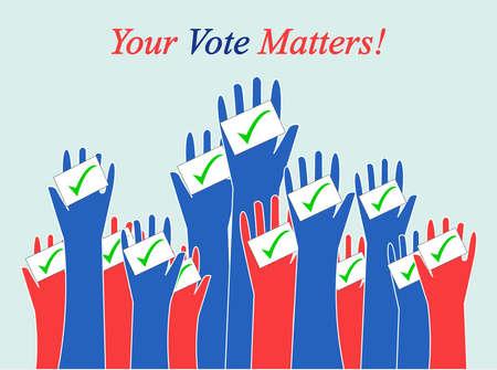 Democrats victory over Republicans Stock Illustratie
