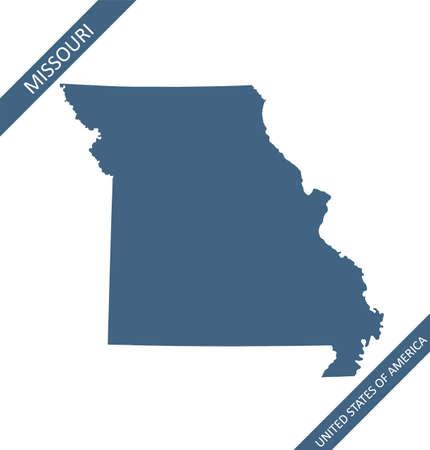 Blank map of Missouri USA Stock Illustratie