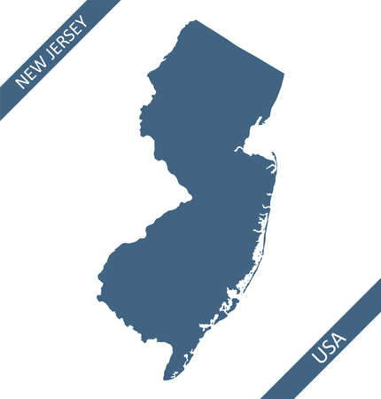 New Jersey blank map outlines