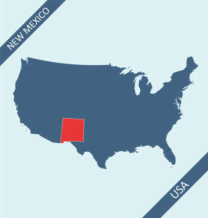 New Mexico location on USA map