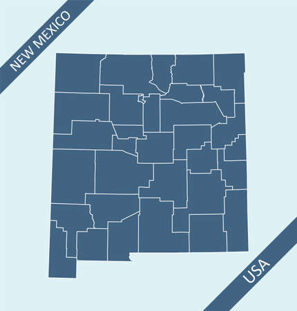 New Mexico county map blank