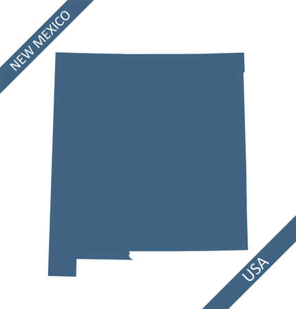 New Mexico blank map vector Stock Illustratie