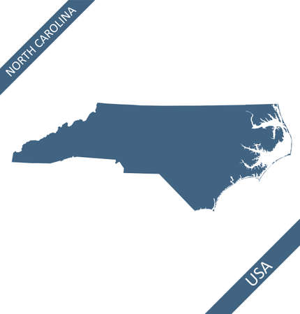 North Carolina map vector blank