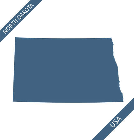 North Dakota map outlines vector