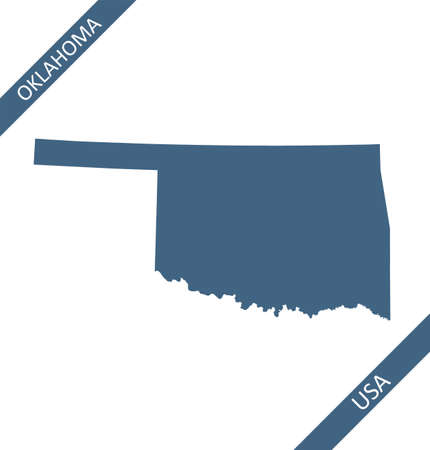 Oklahoma blank map vector outline