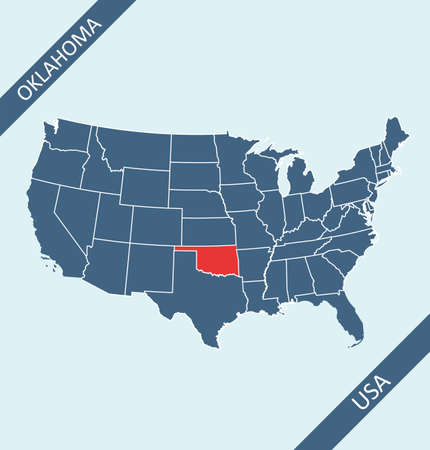 Oklahoma location on USA map