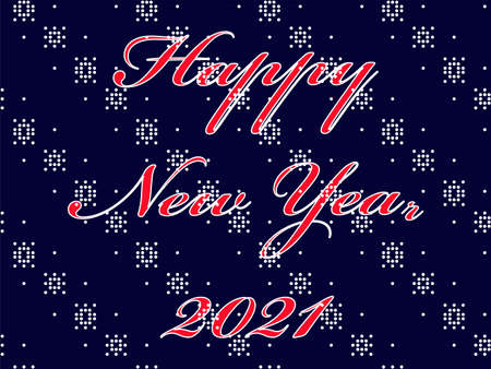 Happy New Year 2021 postcard background Stock Illustratie