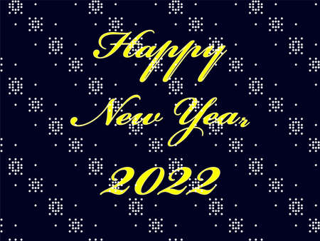 Happy New Year 2022 postcard background