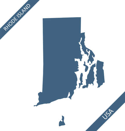 Rhode Island map outlines vector