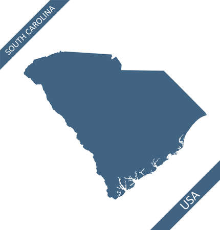 South Carolina blank map outlines