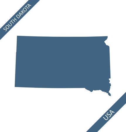 South Dakota map blank outlines Stock Illustratie
