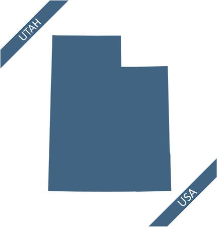 Utah blank map vector outlines
