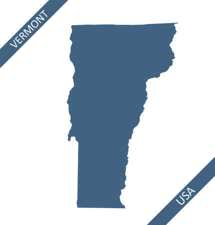 Vermont blank map outlines vector Stock Illustratie