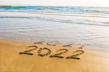 Happy New Year 2022 postcard