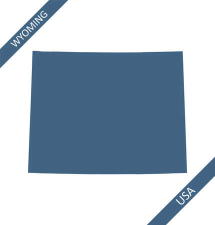 Wyoming blank map vector outlines