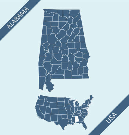 Alabama county map download