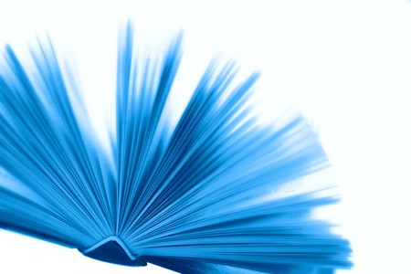 Overexposed big blue book with hard cover at 10Mps photo