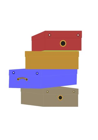 Box for footwear of different color and the form Stock Photo - 5093023