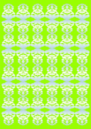 coverlet: Embroidery a lace, white colour, on a green background