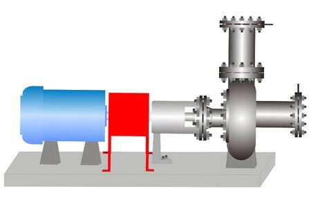 La bomba con una unidad el�ctrica para intercambio de l�quidos